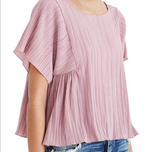 Madewell Pink Pleated Shirt